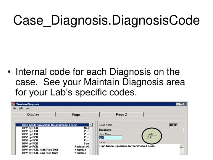 Case_Diagnosis.DiagnosisCode