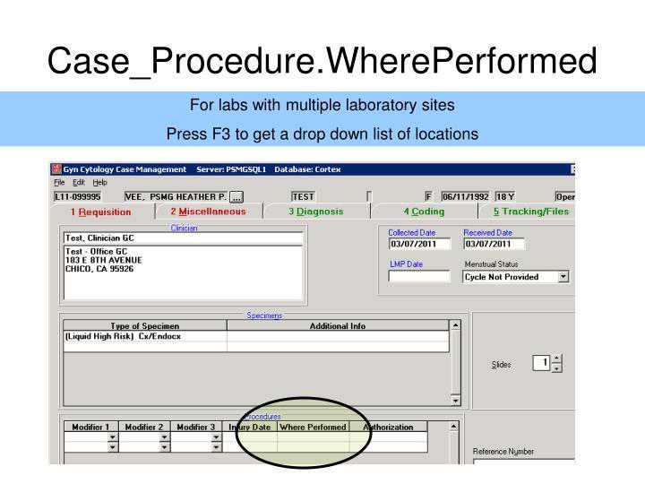 Case_Procedure.WherePerformed