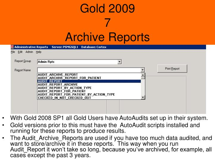 Gold 2009