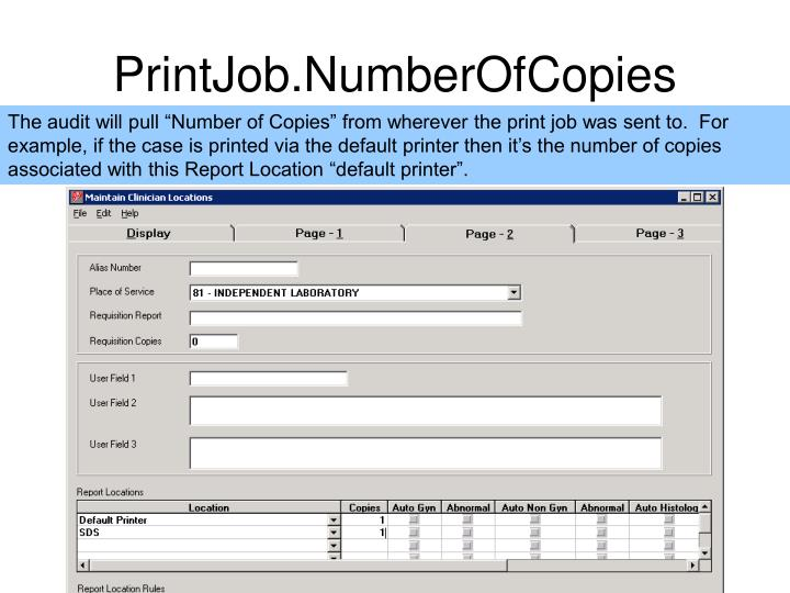 PrintJob.NumberOfCopies