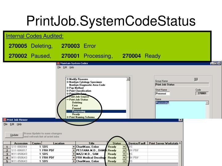 PrintJob.SystemCodeStatus