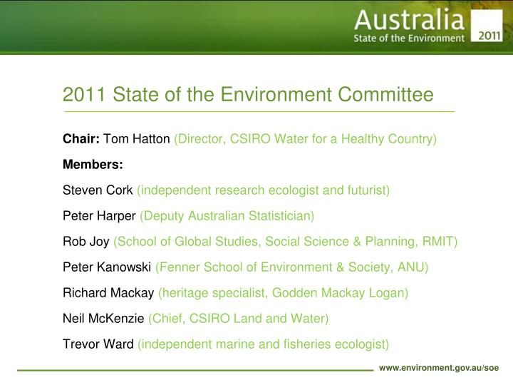 2011 State of the Environment Committee