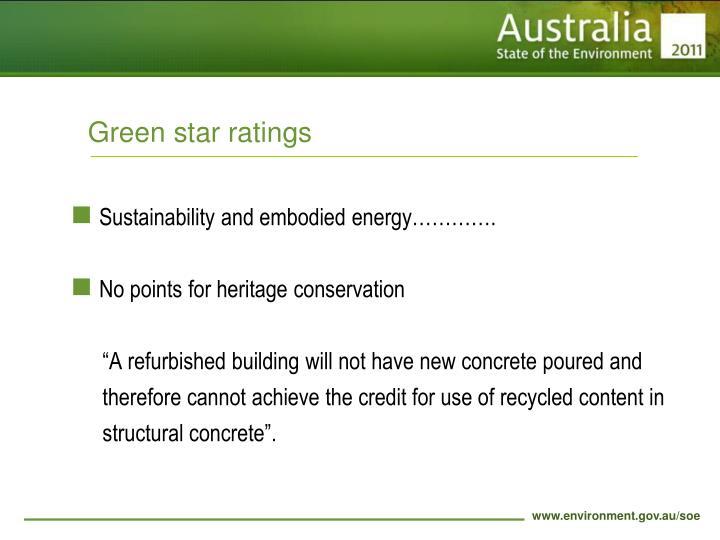 Green star ratings