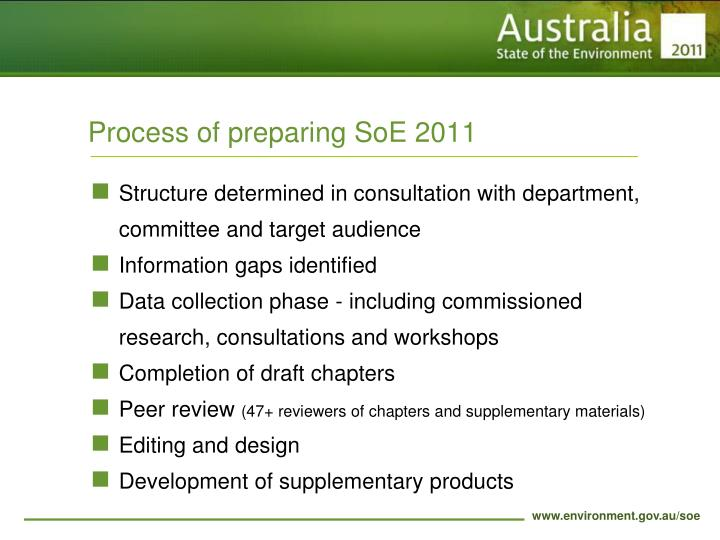 Process of preparing SoE 2011