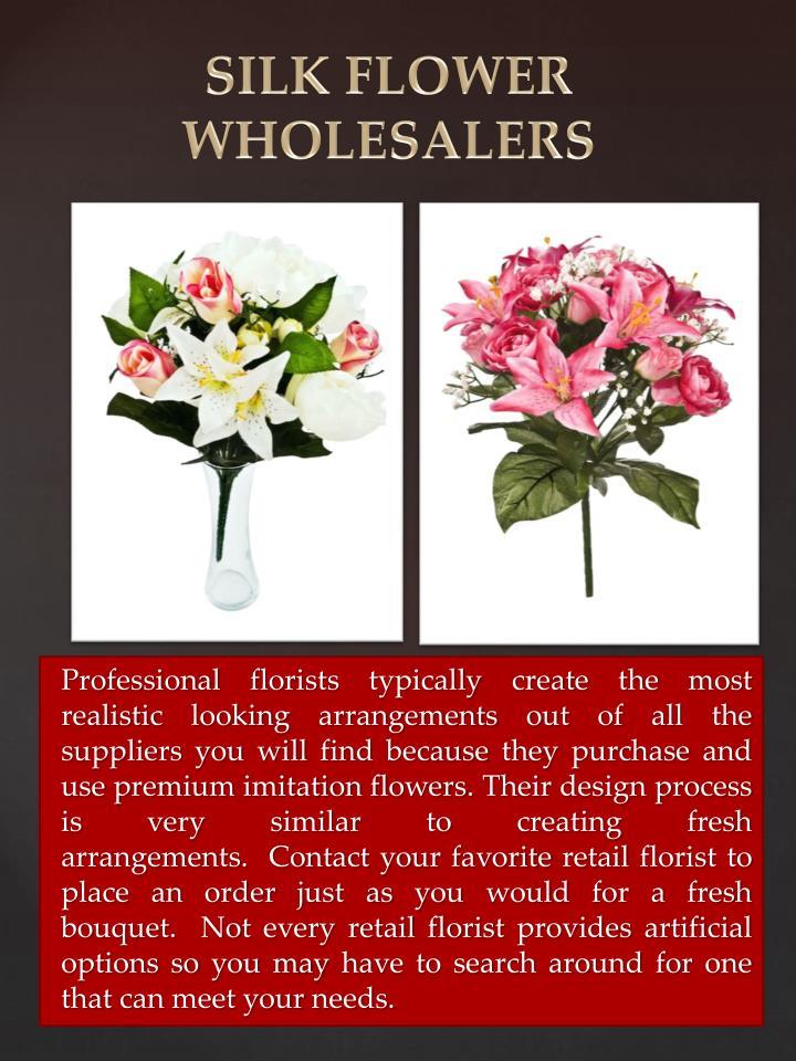 SILK FLOWER WHOLESALERS