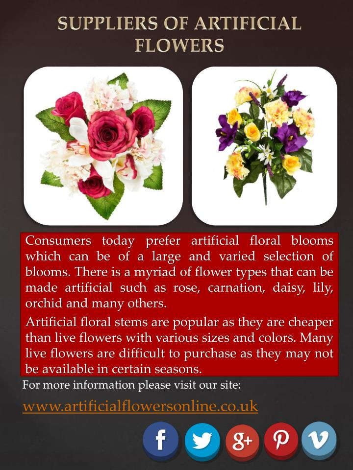 SUPPLIERS OF ARTIFICIAL FLOWERS