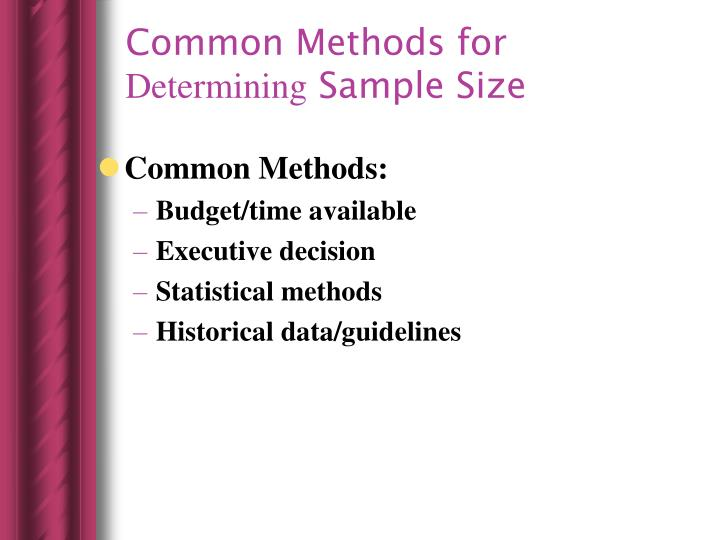 Common Methods for
