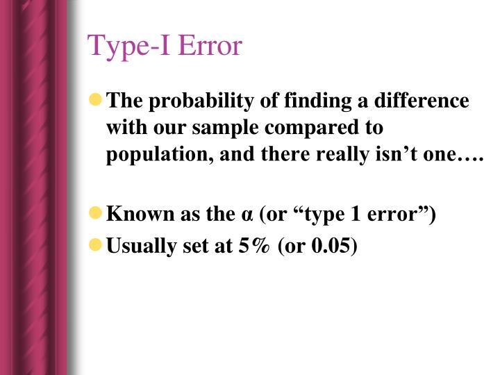 Type-I Error