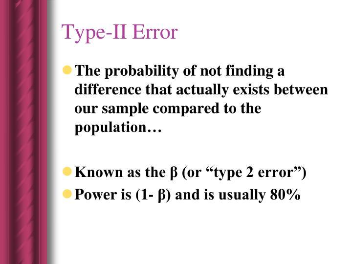 Type-II Error