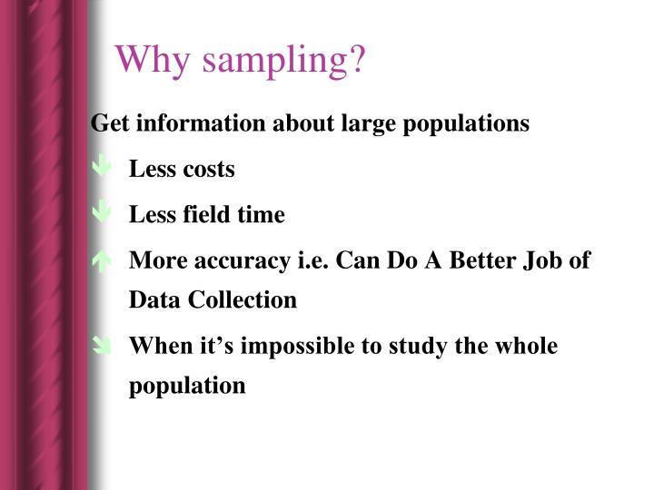 Why sampling?