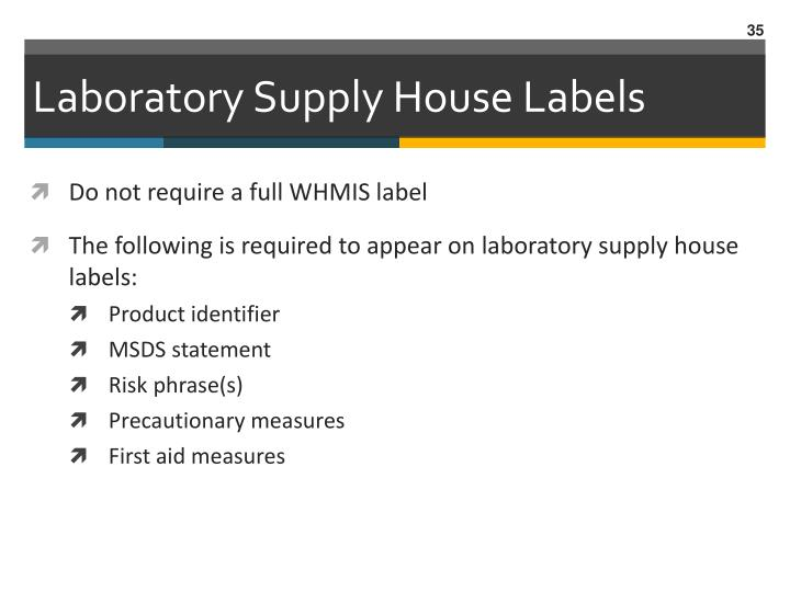Laboratory Supply House Labels