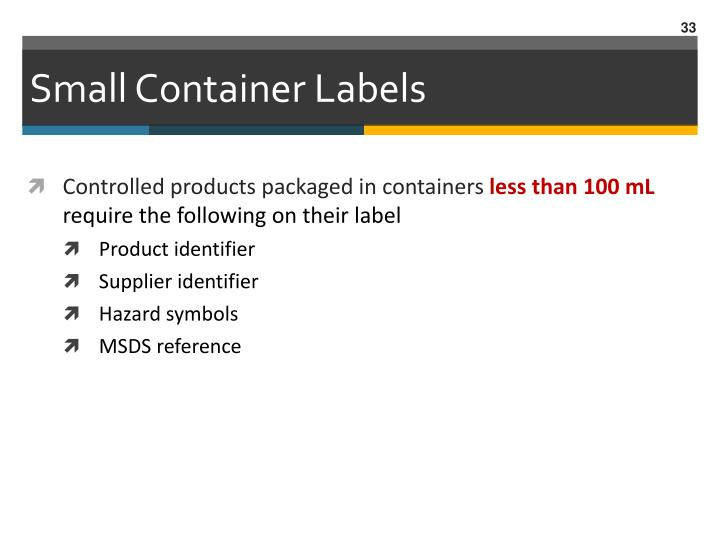 Small Container Labels