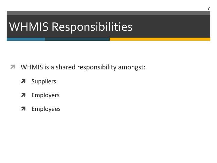 WHMIS Responsibilities