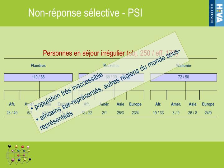 Non-réponse sélective - PSI