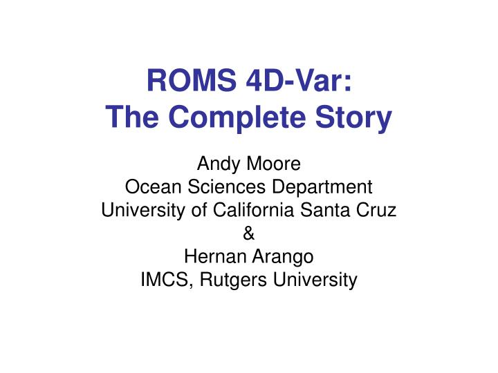 roms 4d var the complete story