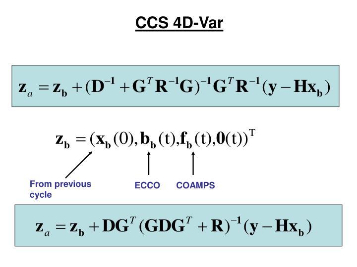 CCS 4D-Var