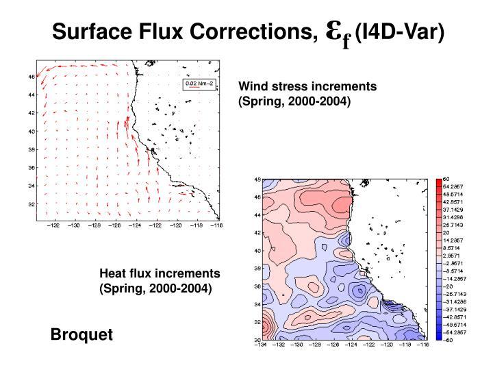 Surface Flux Corrections,      (I4D-Var)