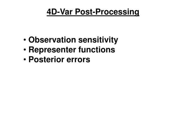 4D-Var Post-Processing