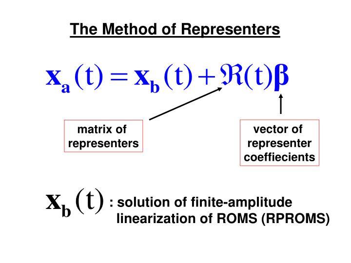 The Method of Representers