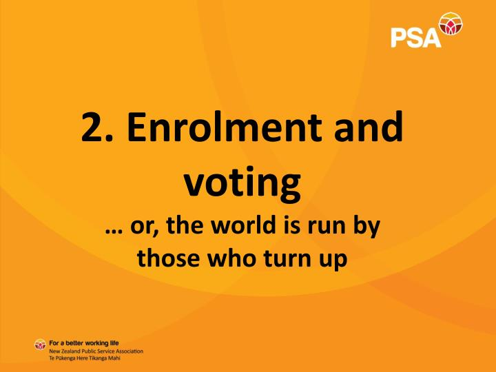2. Enrolment and voting