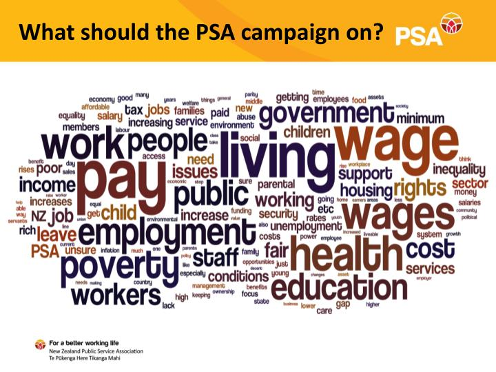 What should the PSA campaign on?
