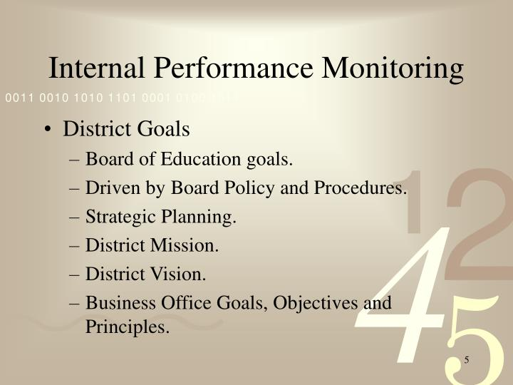 Internal Performance Monitoring