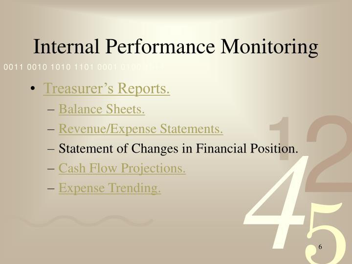 Internal Performance Monitoring