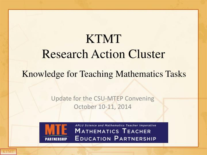 Ktmt research action cluster