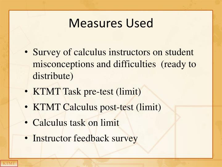 Measures Used