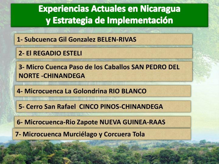 Experiencias Actuales en Nicaragua