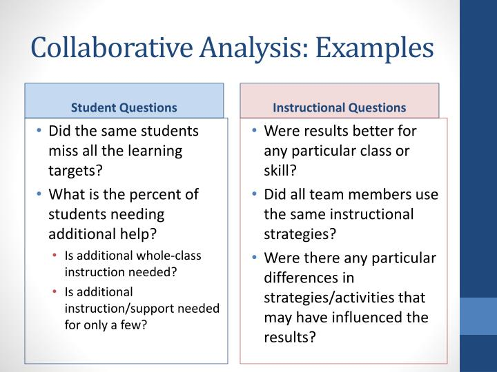 Collaborative Analysis: Examples