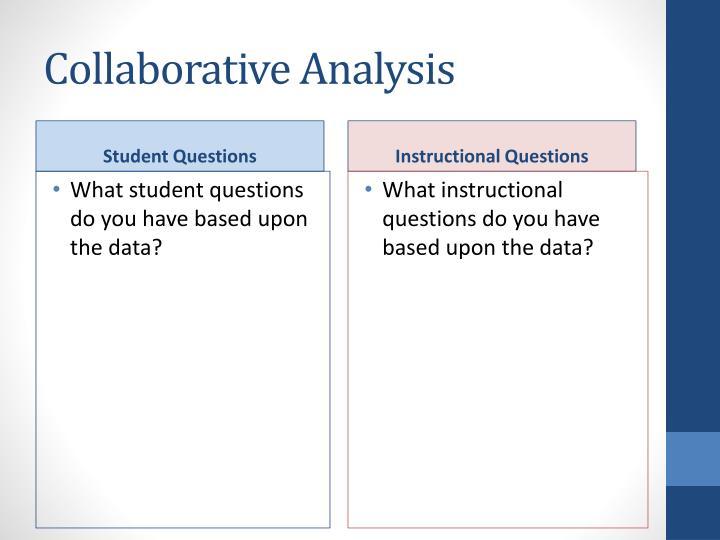 Collaborative Analysis