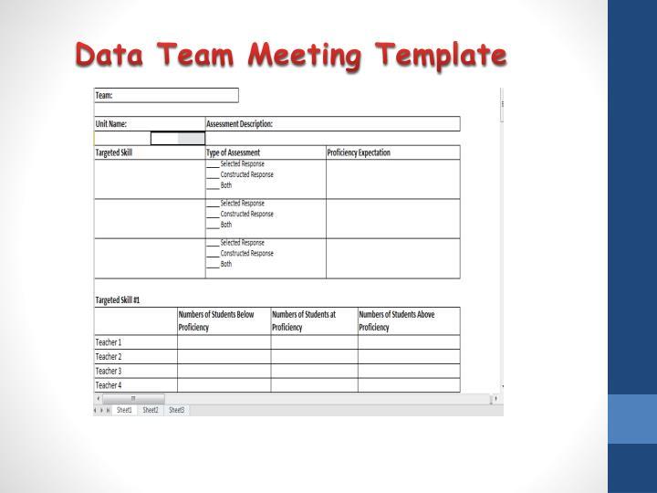 Data Team Meeting Template
