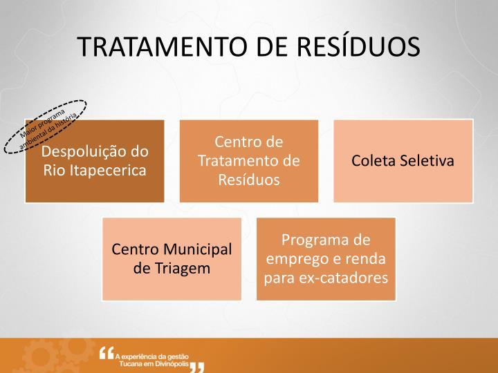 TRATAMENTO DE RESÍDUOS