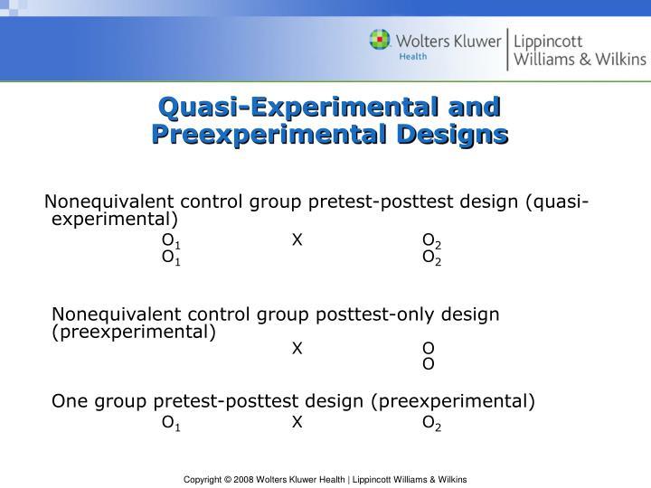 Quasi-Experimental and