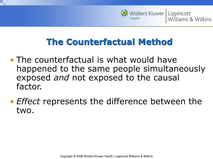 The counterfactual method