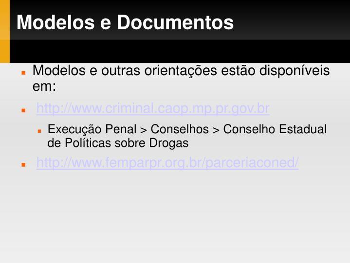 Modelos e Documentos