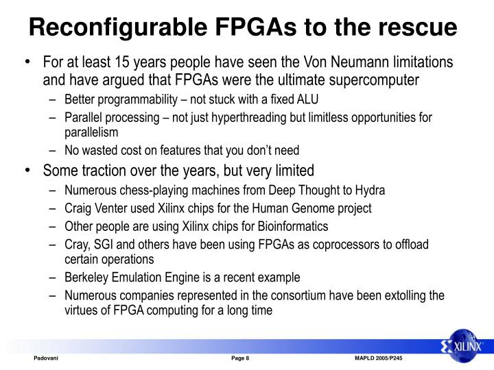 Reconfigurable FPGAs to the rescue