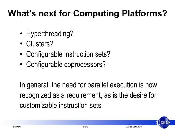 What's next for Computing Platforms?