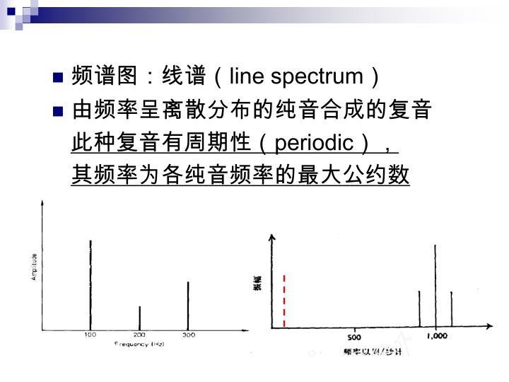 频谱图:线谱(