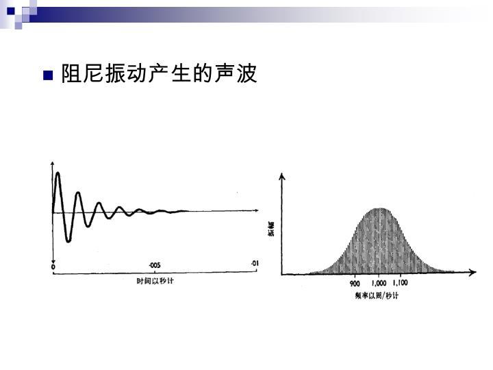 阻尼振动产生的声波