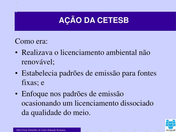 AÇÃO DA CETESB