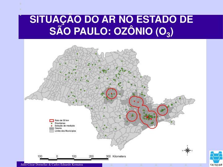 SITUAÇÃO DO AR NO ESTADO DE SÃO PAULO: OZÔNIO (O