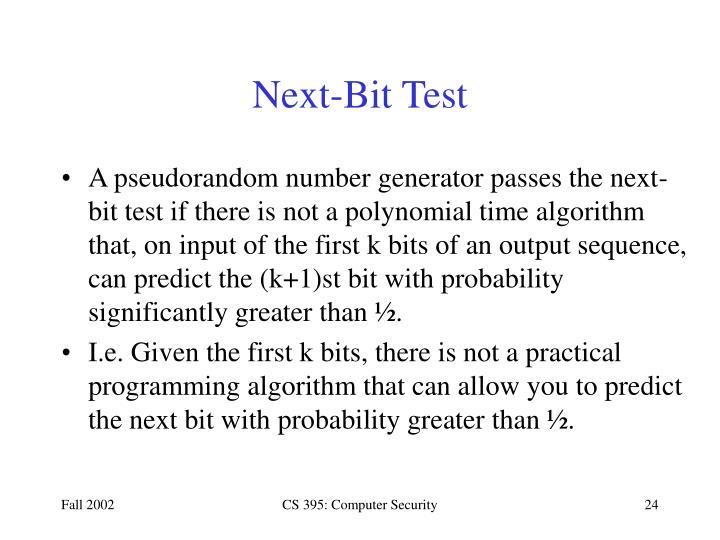 Next-Bit Test