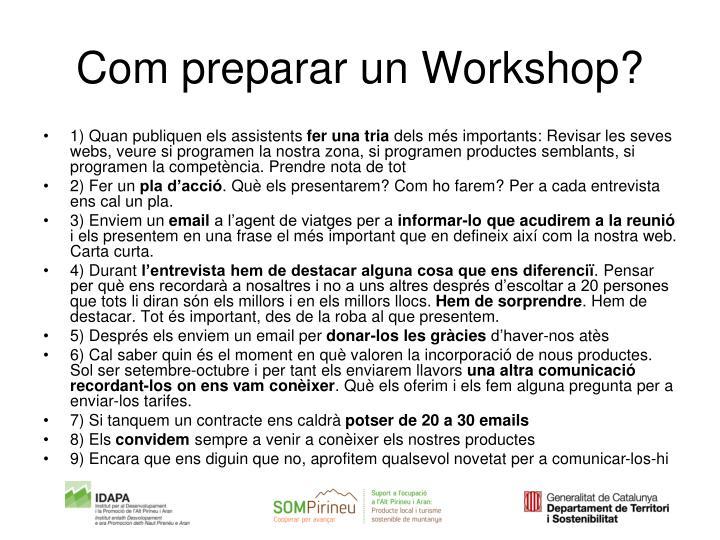 Com preparar un Workshop?