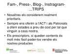 fam press blog instragram trips