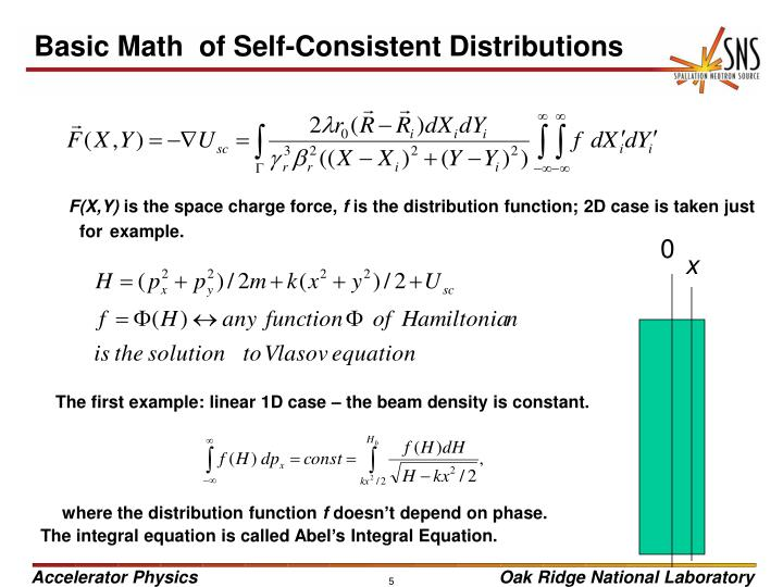 Basic Math  of Self-Consistent Distributions
