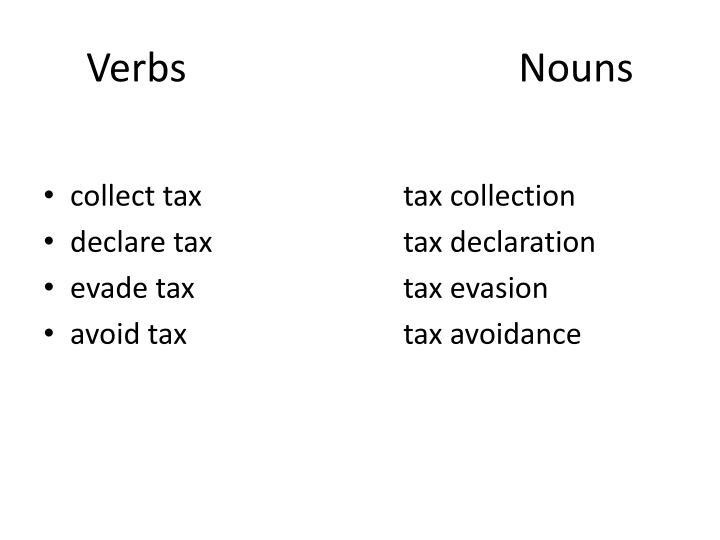 VerbsNouns