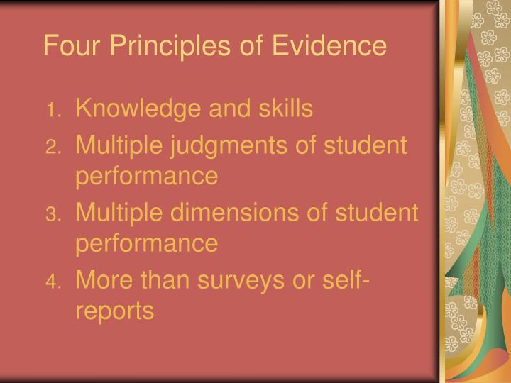 Four Principles of Evidence