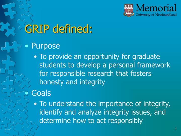 GRIP defined: